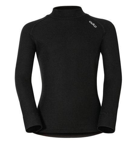 Odlo Warm детское термобелье рубашка черная