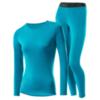 Loffler Wool женский комплект термобелья бирюзовый - 1