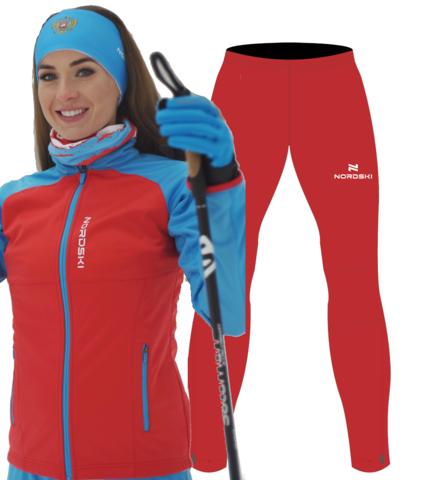 Nordski Premium Motion разминочный костюм женский red