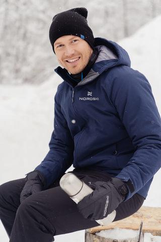 Nordski Pulse лыжная утепленная куртка мужская темно-синяя