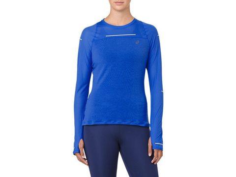 Asics Lite Show Long Sleeve рубашка беговая женская синяя