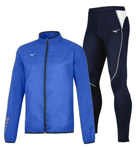 Mizuno Authentic Premium костюм для бега мужской blue