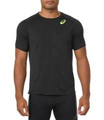 Asics Ss Top футболка беговая мужская черная-зеленая