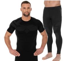 Brubeck Dry мужской комплект термобелья с футболкой графит-черный