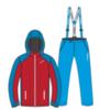 Nordski National утепленный лыжный костюм женский red - 3