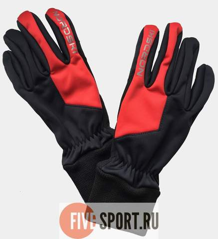 Nordski Arctic WS лыжные перчатки black-red