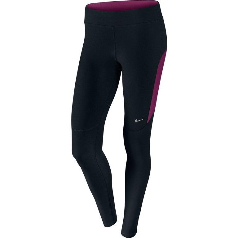 Тайтсы Nike Filament Tight (W) чёрно-фиолетовые