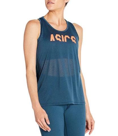Asics Esnt Gpx Tank майка для бега женская синяя