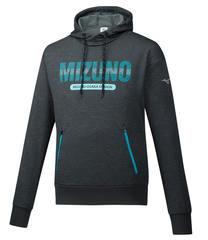 Mizuno Heritage Hoody толстовка мужская серая-синяя