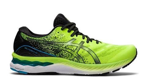 Asics Gel Nimbus 23 кроссовки для бега мужские салатовые-черные