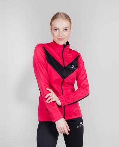 Nordski Jr Base тренировочная куртка для девочек pink-black