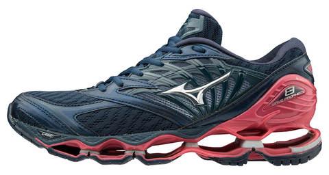 Mizuno Wave Prophecy 8 кроссовки для бега женские синие-розовые
