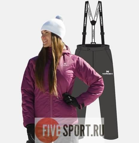 Nordski Motion теплый лыжный костюм женский iris-grey