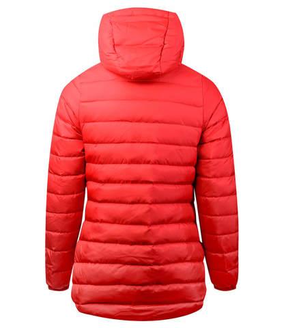 Asics Down Hooded Jacket женская утепленная куртка красная