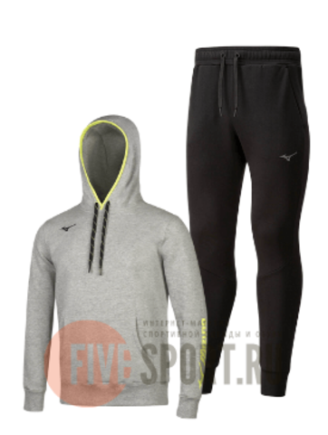 Mizuno Athletic Sweat спортивный костюм мужской grey-black