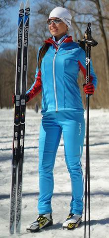 Nordski National женский разминочный лыжный костюм голубой