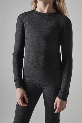 Craft Core Wool Merino комплект термобелья детский черный