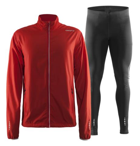 Craft Mind Run мужской костюм для бега красный