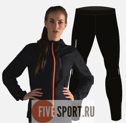 Nordski Jr Run Premium беговой костюм детский Black-Orange