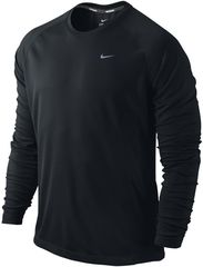 Футболка Nike Miler LS UV Top /Рубашка беговая чёрная