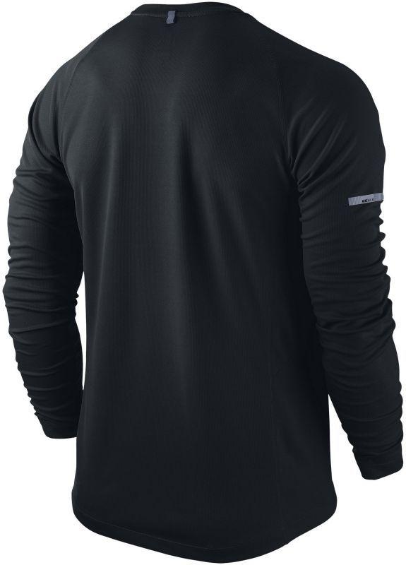 Футболка Nike Miler LS UV Top /Рубашка беговая чёрная - 2