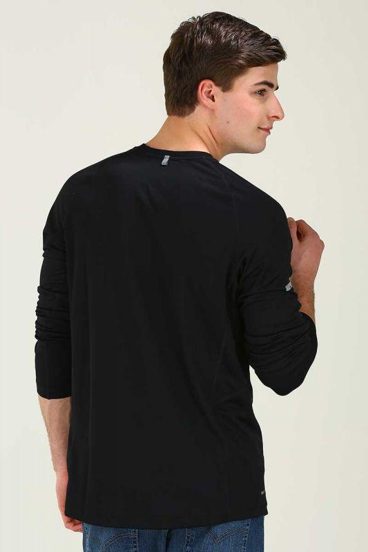 Футболка Nike Miler LS UV Top /Рубашка беговая чёрная - 3