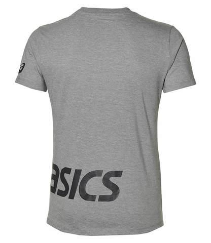 Asics Low Big Logo Tee футболка для бега мужская серая