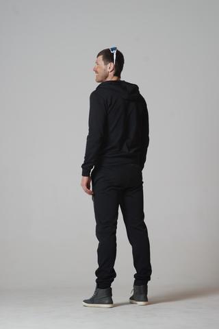 Nordski Base Zip Hood толстовка черная