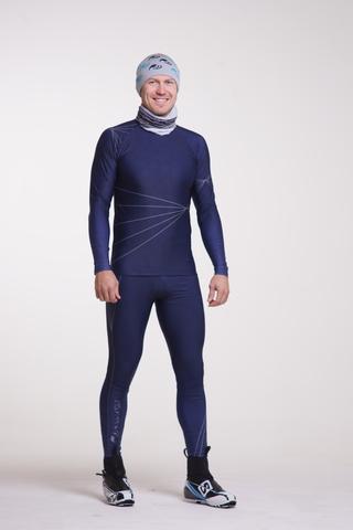 Nordski Premium детский лыжный комбинезон темно-синий
