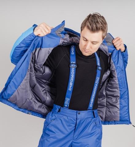Nordski Premium Sport теплая лыжная куртка мужская blue