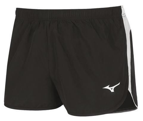Mizuno Authentic Split Short мужские беговые шорты черные
