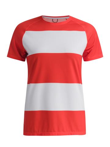 Футболка женская GRI Маяк, красно-белая