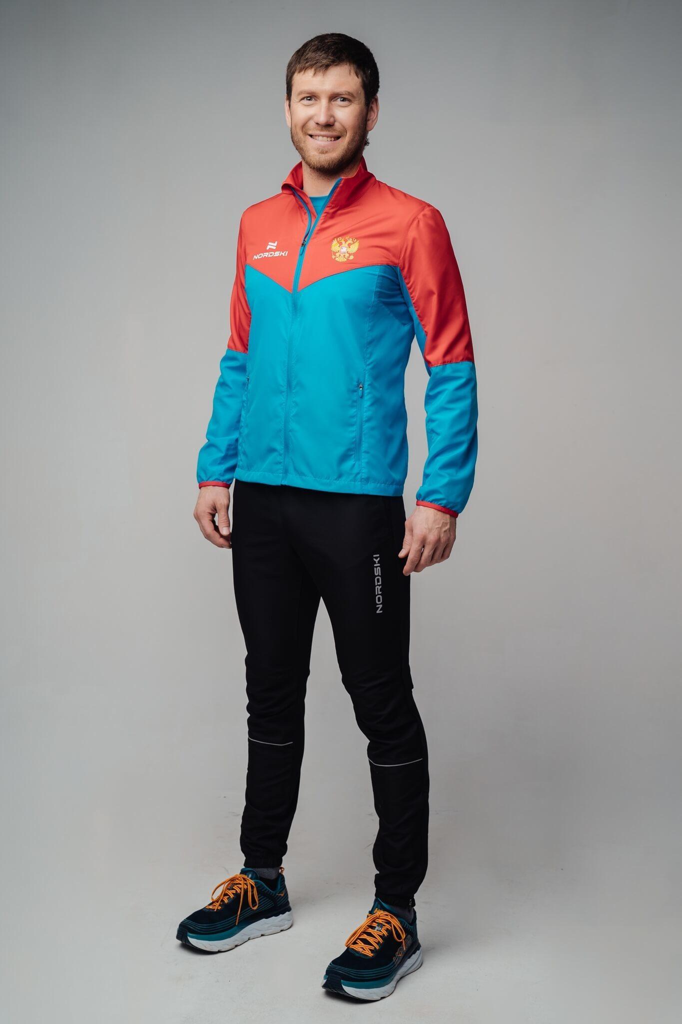 Nordski Sport костюм для бега мужской red-blue