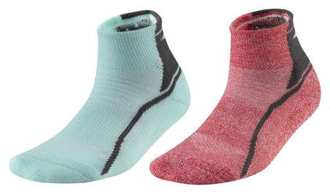 Mizuno Active Training Mid 2p комплект носков красные-голубые