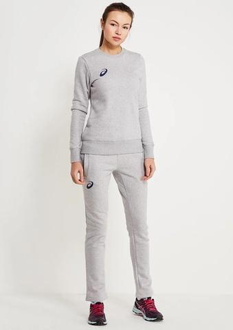 Asics Fleece Suit женский спортивный костюм серый