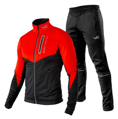 Victory Code Go Fast разминочный лыжный костюм красный
