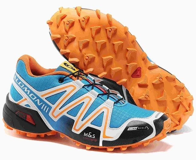 Кроссовки Salomon Speedcross 3 blue orange - 3