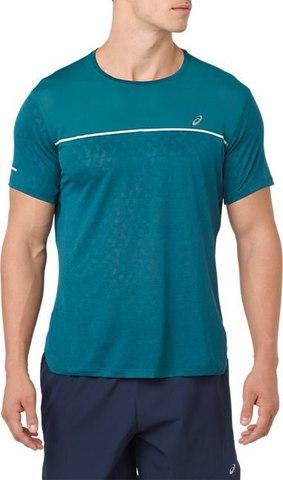 Asics Gel Cool Ss Top футболка для бега мужская бирюзовая