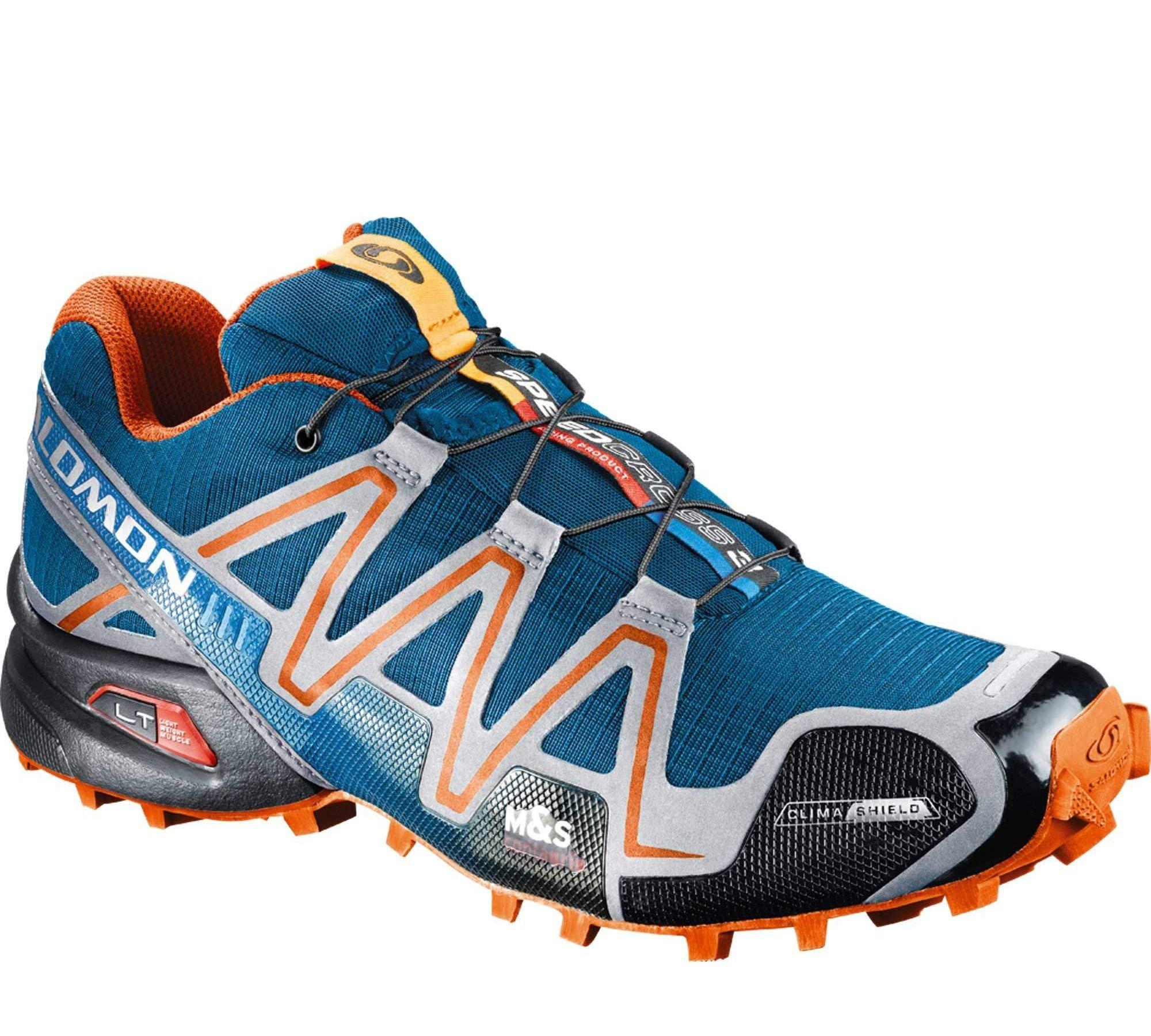 Кроссовки Salomon Speedcross 3 blue orange - 4