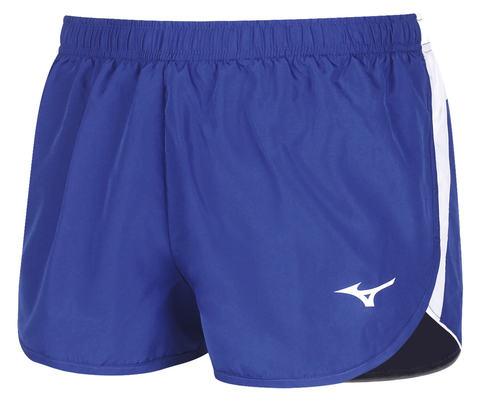 Mizuno Authentic Split Short мужские беговые шорты синие