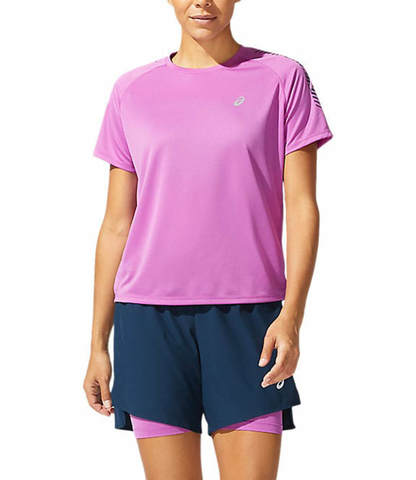 Asics Icon Ss Top футболка для бега женская фиолетовая