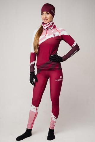 Nordski Premium лыжный гоночный комбинезон женский бордо-rose