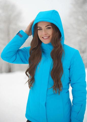 Nordski Mount лыжная утепленная куртка женская blue