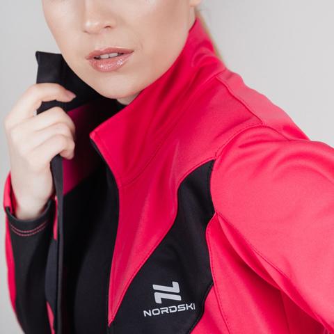 Утепленная тренировочная куртка женская Nordski Base pink
