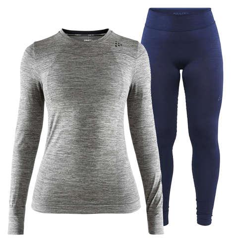 Craft Fuseknit Comfort комплект термобелья женский grey-navy