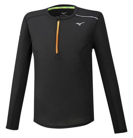 Mizuno Dry Aeroflow Ls Hz футболка с длинным рукавом мужская черная
