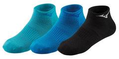 Mizuno Training Mid 3P комплект носков черные-синие