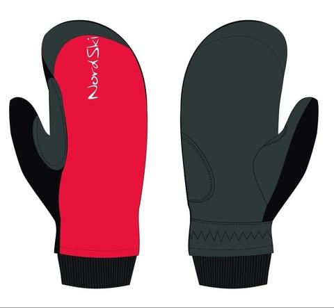 Nordski Arctic WS лыжные варежки красные