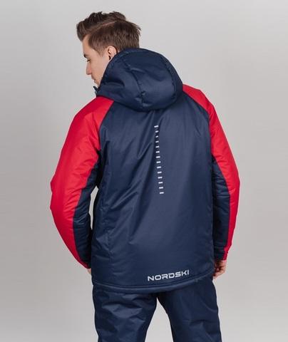 Nordski Premium Sport теплая лыжная куртка мужская navy-red