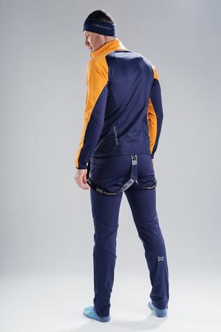 Nordski Premium лыжный костюм мужской orange-blueberry
